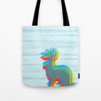 jackalope Tote Bags featuring Jackalope by Glassy