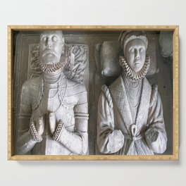 Vector Of Alabaster Effigies At Wentworth Church Serving Tray