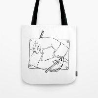 escher Tote Bags featuring Escher by franzgoria