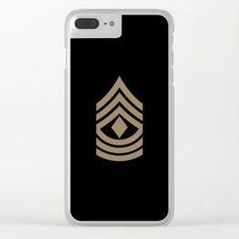 1st Sergeant (Brown) Clear iPhone Case