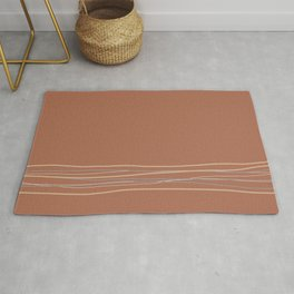Sherwin Williams Cavern Clay Warm Terracotta SW 7701 with Scribble Lines Bottom in Accent Colors Rug