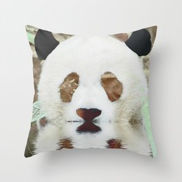 Panda Reflection Throw Pillow