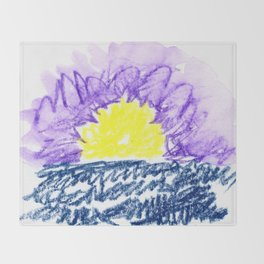here comes the sun III Throw Blanket