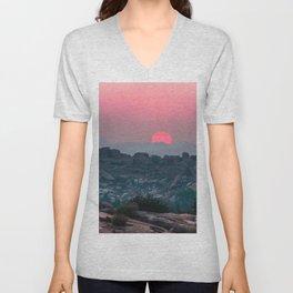 Otherworldly sunrise of Hampi, India Unisex V-Neck