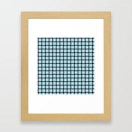 Small Pastel Blue Weave Framed Art Print