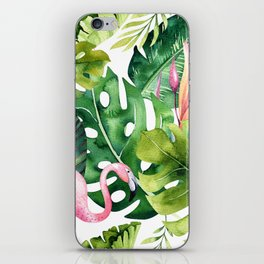 Tropical & flamingo collection iPhone Skin