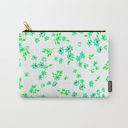 Fashion Textail Floral Print Design, Flower Allover Pattern Carry-All Pouch