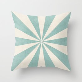 robins egg blue starburst Throw Pillow
