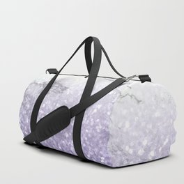 She Sparkles - Violet Purple Glitter Marble Duffle Bag
