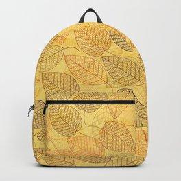 LEAVES ENSEMBLE YELLOW Backpack