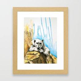 Watercolor Polar Bear Framed Art Print