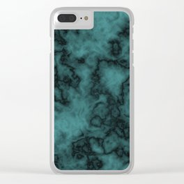 Turbulent blue Clear iPhone Case