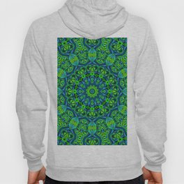 Green-black-blue kaleidoscope Hoody