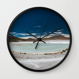 Panorama of Laguna Hedionda, Bolivia Wall Clock