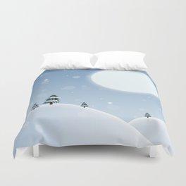 Winter Snow Scene Duvet Cover