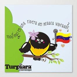 Yo nací en una ribera del Arauca vibrador Canvas Print