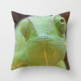Chameleon Face Throw Pillow