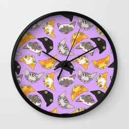"""Oro?"" Cats-Lavender Wall Clock"