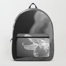 Flower Earring Black And White #decor #society6 #buyart Backpack