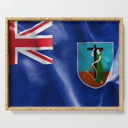 Montserrat Flag Serving Tray