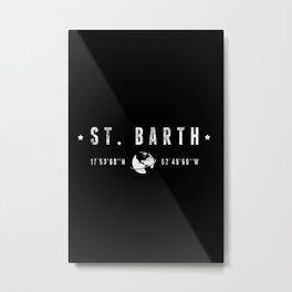 St. Barth geographic coordinates Metal Print