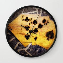 Dead Man's Hand Wall Clock