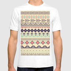 Aztec pattern 02 White Mens Fitted Tee LARGE