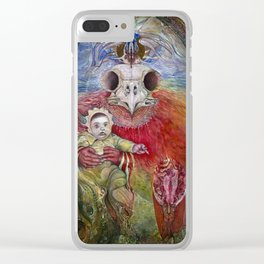 The Surrogate Mother-Goddess of Wisdom holding Alter-Ego Baby Bogomil Clear iPhone Case