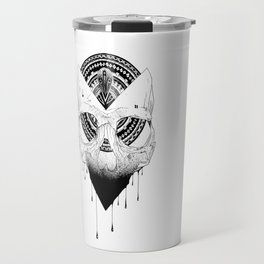 Enigmatic Skull Travel Mug