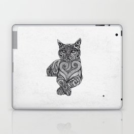 Zentangle Cat Laptop & iPad Skin