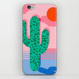 No Foolin - retro throwback neon art design minimal abstract cactus desert palm springs southwest  iPhone Skin