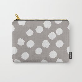 Fuzzy Polka Dots - Raisin/White Carry-All Pouch