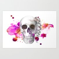 Braided Skull Art Print
