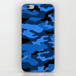 Blue Camouflage iPhone Skin