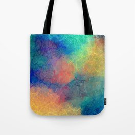Reflecting Multi Colorful Abstract Prisms Design Tote Bag