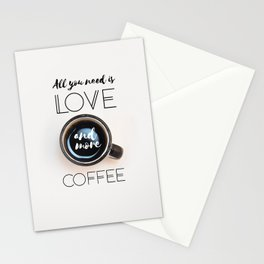 Love & Coffee Stationery Cards