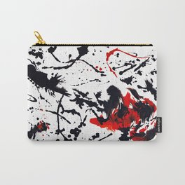 Red and Black Abstract Guitar Carry-All Pouch