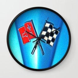 Corvette Flags Wall Clock