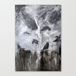Fly Raven - fly Canvas Print