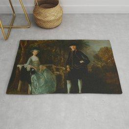 """Thomas Gainsborough """"Lady Lloyd and Her Son, Richard Savage Lloyd, of Hintlesham Hall, Suffolk"""" Rug"""