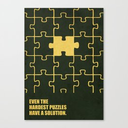 Lab No. 4 -Even The Hardest Puzzles Have A Solution Corporate Start-Up Quotes Canvas Print