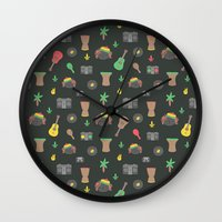 reggae Wall Clocks featuring Cute Reggae by Anna Alekseeva kostolom3000