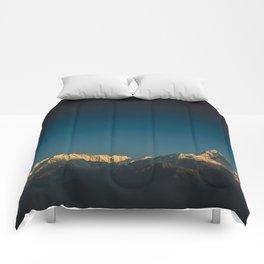 Himalayan sunrise Comforters