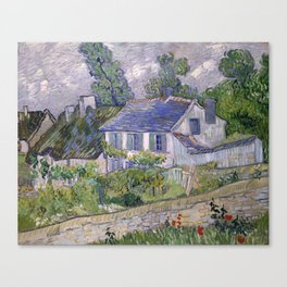 Vincent Van Gogh - Houses at Auvers Canvas Print