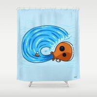 aquarius Shower Curtains featuring Aquarius by Giuseppe Lentini