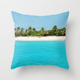 virgin island Throw Pillow