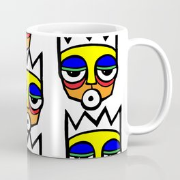 African Traditional Mask pop art Coffee Mug