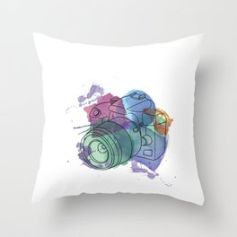 Camera Capturing Light Throw Pillow
