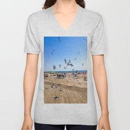 Seagulls of Coney Island Unisex V-Neck