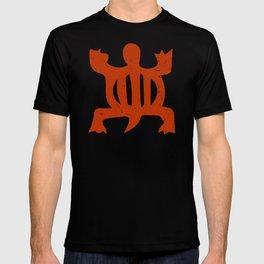 "Denkyem ""Crocodile""   African Symbol of adaptability in African Orange T-shirt"